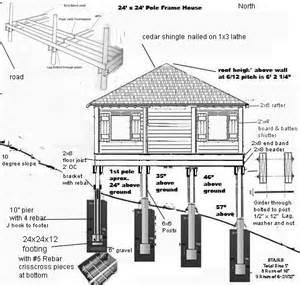 hillside cabin plans pier and beam cabin foundation construction