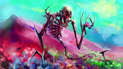 artwork, Fantasy Art, Digital Art, Skeleton, Colorful ...