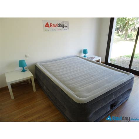 matelas gonflable intex comfort plush fiber tech 2 places raviday