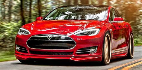 View Tesla Car Speed Limit Background