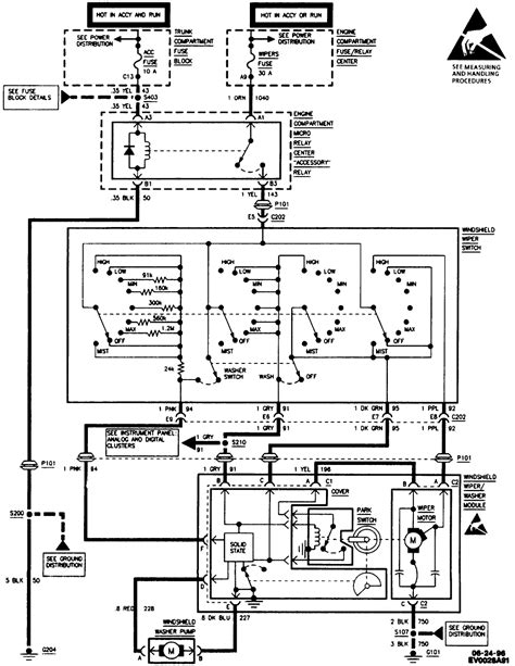 1994 Cadillac Wire Diagram by Wherre Can I Find A Wiring Diagram For A Wiper Motor For A