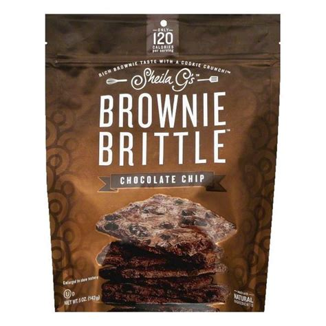Sheila Gs Chocolate Chip Brownie Brittle, 5 OZ (Pack of 12 ...