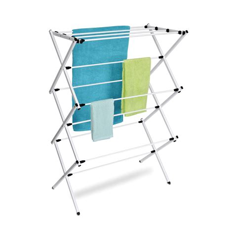 folding drying rack homz steel folding drying rack