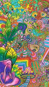Psychedelic Poster Art Mushroom Poster Print Trippy Art