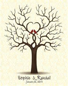 bridal guest book wedding guestbook tree guest book with birds family tree