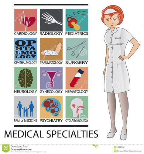 foto de Especialidades médicas ilustración del vector Ilustración