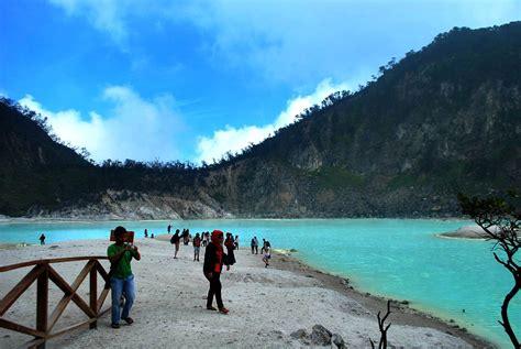 amazing nature tourism crater putih ciwidey bandung