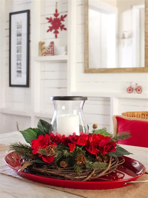how to make a layered holiday centerpiece hgtv