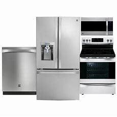 Stainless Steel Refrigerator , Range, Microwave