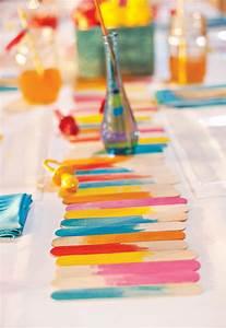 Faschingsdeko Selber Machen : colorido camino de mesa con palitos de helado gu a de manualidades ~ Markanthonyermac.com Haus und Dekorationen
