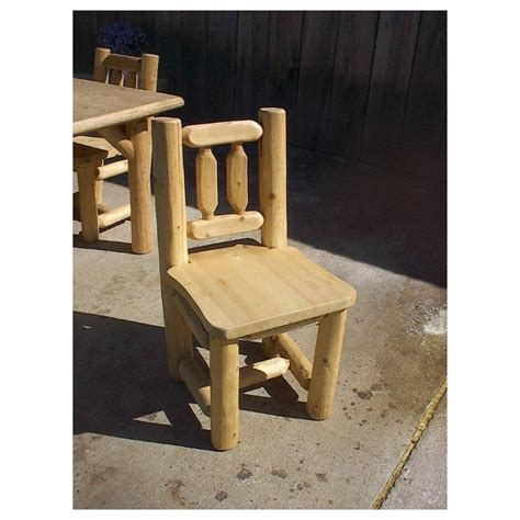 rustic cedar log kitchen table and chairs