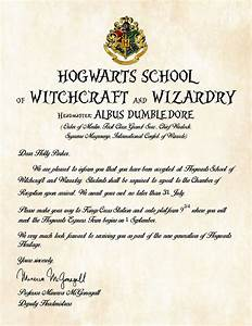 personalized hogwarts school of witchcraft and wizardry With harry potter school letter
