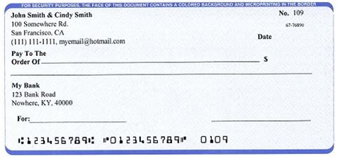 personal check template free mac check writer print professional checks on blank stock