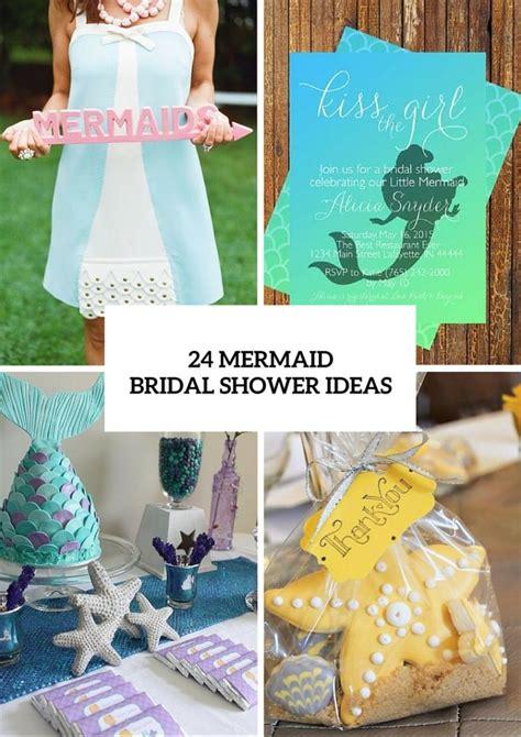 mermaid bridal shower ideas  fairytale lovers weddingomania