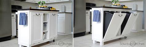 kitchen island with trash storage modern kitchen trash can ideas for waste management