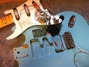 John Wesley Guitar Services  Maple Cap Strat With Don Lace