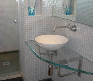 cuisines salles de bains macoccoverres doubles vitrages With vasque salle de bain en verre trempé