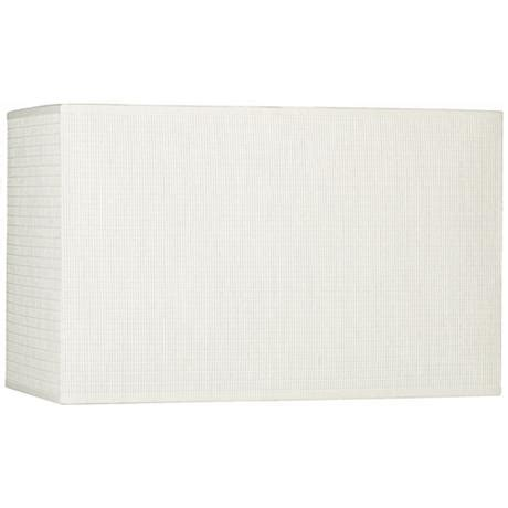 l shade wide fitting white rectangular paper weave shade 8 16x8 16x10 spider
