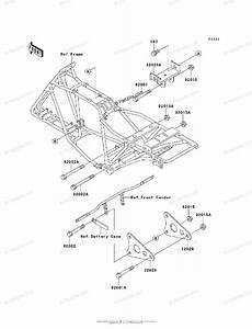 Kawasaki Atv 2002 Oem Parts Diagram For Frame  U0026 Fittings