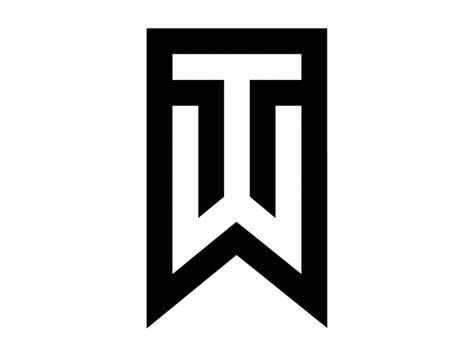 Tiger Woods Logo   Inisial, Logo keren, Desain