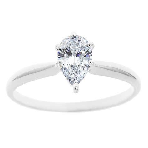 new york city diamond district 14k white gold pear shape