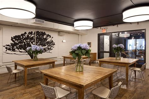 nyc carriage house renovated   trendy cafe