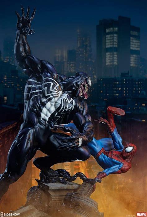 spider man battles venom  sideshows latest marvel
