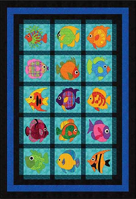 wonderfully fishy quilt pattern love  sew