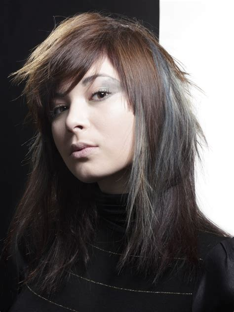With Black Hair by Hair With Colored Layers Combining Brown And Charcoal