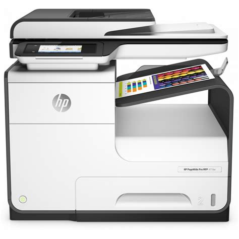 Black, cyan, magenta and yellow. HP PageWide Pro MFP 477dw - CHIP7