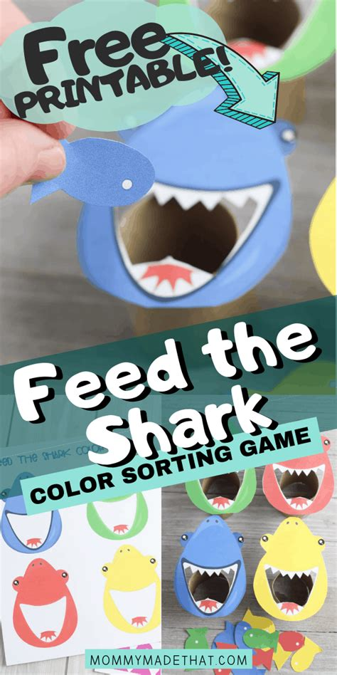 feed  shark game   printable  images
