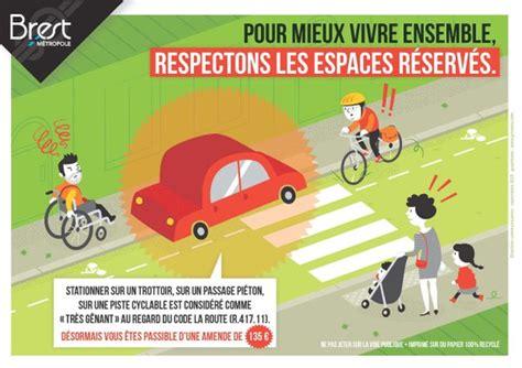 amende stationnement trottoir informer sensibiliser bapav