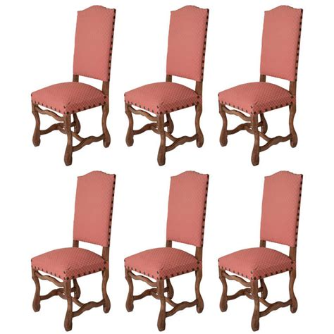 6 os de mouton dining chairs at 1stdibs