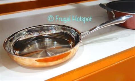 costco sale cuisinart copper tri ply cookware  pc set  frugal hotspot