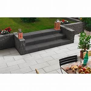 Fugensand Anthrazit Obi : kann blockstufe aus beton anthrazit 50 cm x 34 cm x 15 cm ~ Michelbontemps.com Haus und Dekorationen