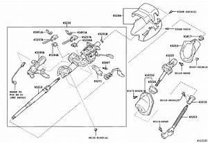 2005 Toyota 4runner Steering Shaft  Shaft  Steering