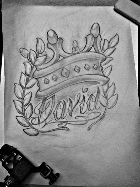 king david sketch by michaelbrito.deviantart.com on @deviantART   Tattoo sketches, Crown tattoo