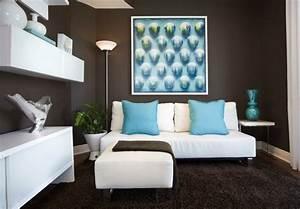 Braunes Sofa Weiße Möbel : wohnzimmer braun 60 m glichkeiten wie sie ein braunes wohnzimmer gestalten ~ Sanjose-hotels-ca.com Haus und Dekorationen