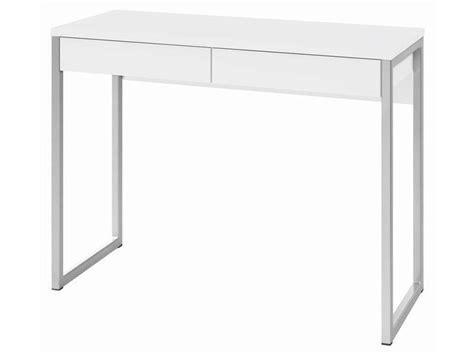bureau 60 cm de large bureau 2 tiroirs leny coloris blanc vente de bureau