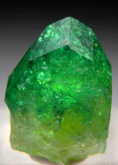 chrome vesuvianite translucent  transparent complete
