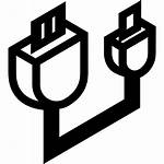 Usb Cable Conector Icons Cabo Gratis Um