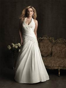 Sexy a line halter chapel train taffeta plus size wedding for Plus size halter wedding dresses