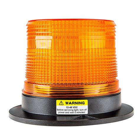"514"" Amber Led Strobe Light Beacon With 15 Leds Super"