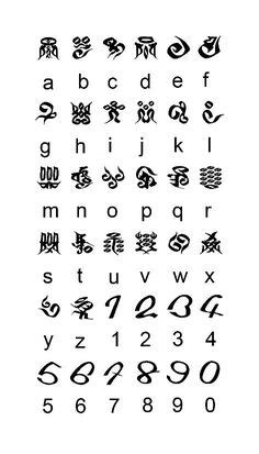 The Standard Galactic Alphabet or SGA is used in the