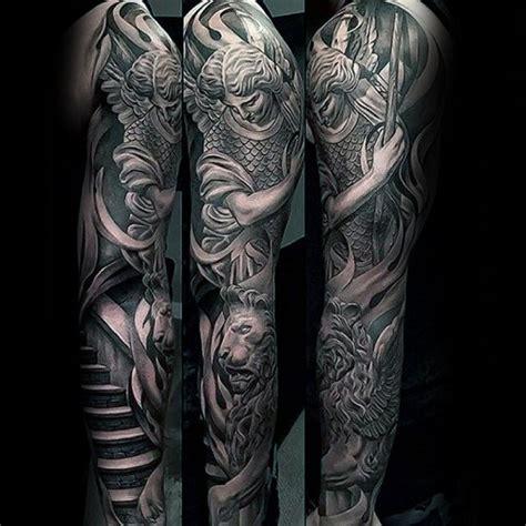 famous lion sleeve tattoo ideas designs  lion