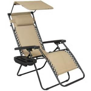 folding zero gravity recliner lounge chair with canopy shade magazine cup holder walmart