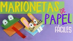 ¿Cómo hacer marionetas de papel fáciles de animales? Uma Manualidades