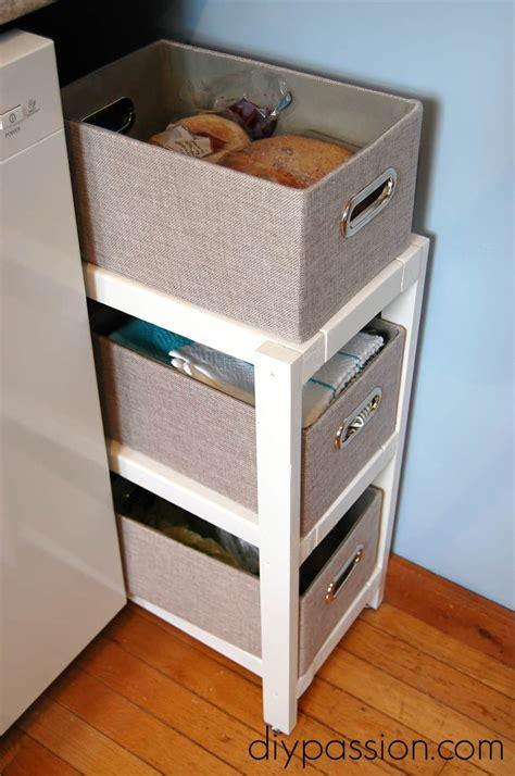 diy kitchen basket shelf       space