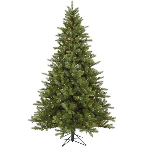 9 foot king spruce christmas tree all lit lights a124481