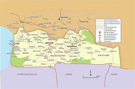 cartes du cameroun cartes des régions plans de yaoundé